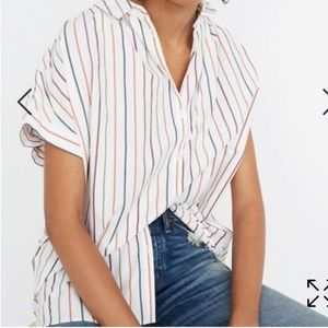 Madewell Central shirt in Sadie Stripe sz S